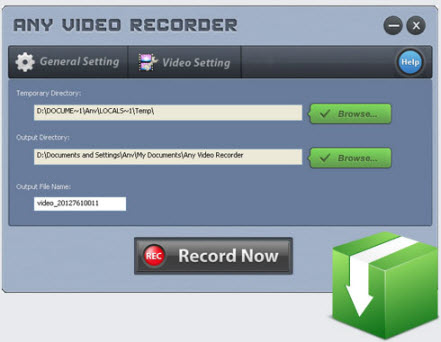 Any Video Recorder interface.