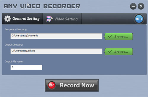 the Interface of Any Video Recorder